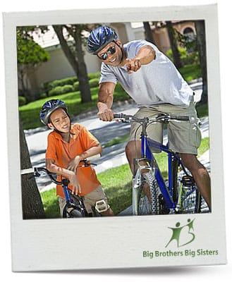 Big Brother Big Sister Biking Buddies polaroid