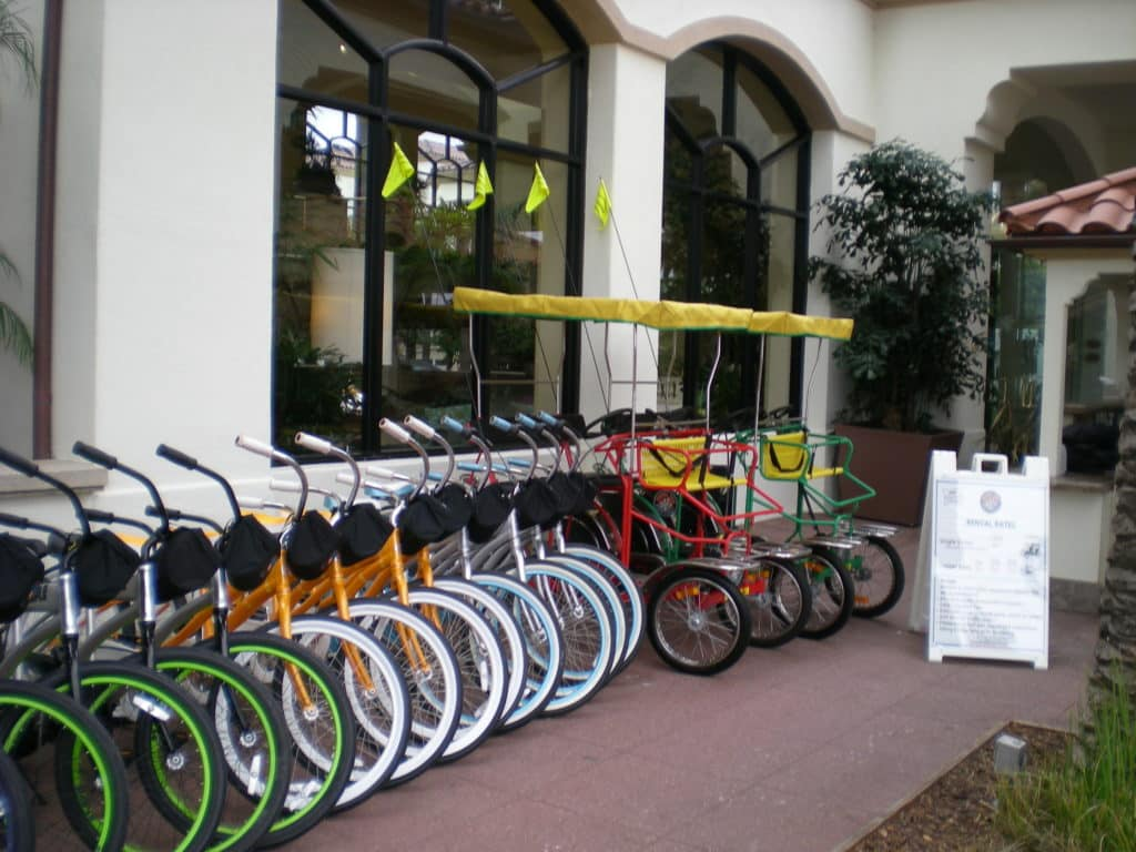 Huntington Beach bike rentals Hilton Waterfront beach resort