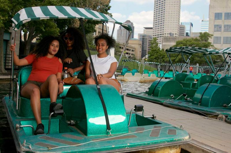Pedal boat rentals at the Canal Walk