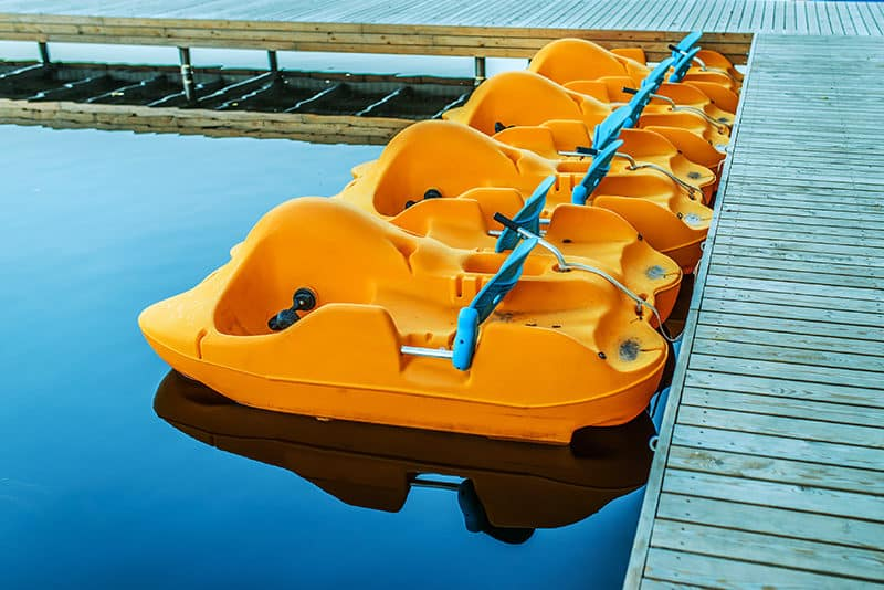 Pedal boat rental on lake Carolina Beach