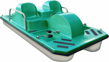 Single Green Pedal Boat
