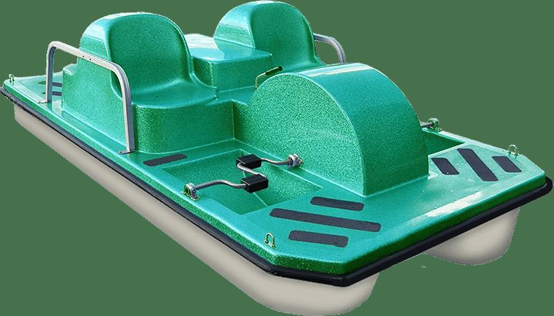 Single Green Pedal Boat