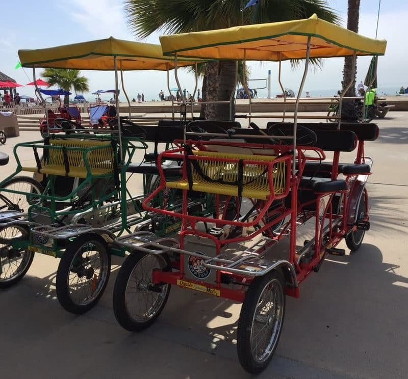 rent a bike at Doheny state beach