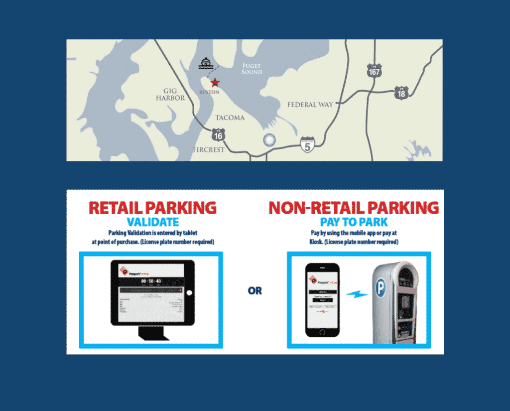 Point Ruston Parking and Directions for Bike Rentals