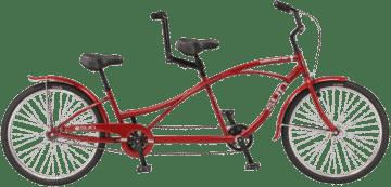 single speed tandem bike rental by Wheel Fun Rentals