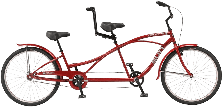 single speed tandem bike rental by Wheel Fun Rentals