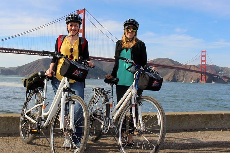 Rent a bike in San Francisco and Bike the Bridge on our GPS guided bike tour