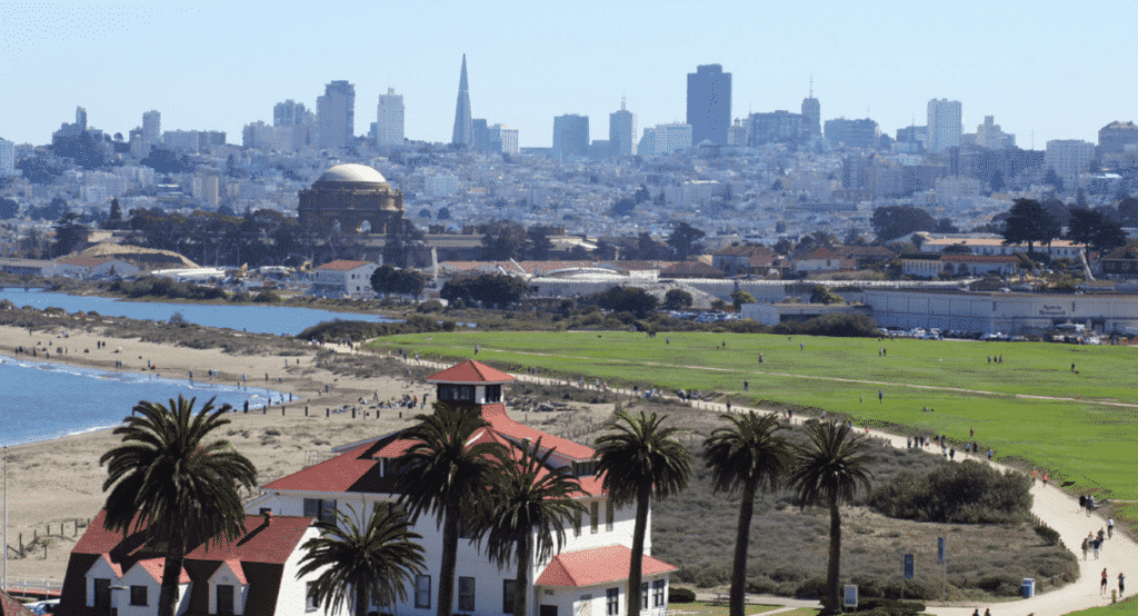 You'll have the opportunity to stop at Crissy Field with your bike rental while on your tour!