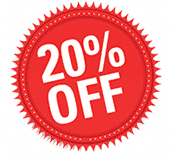 Save 20% by reserving online!