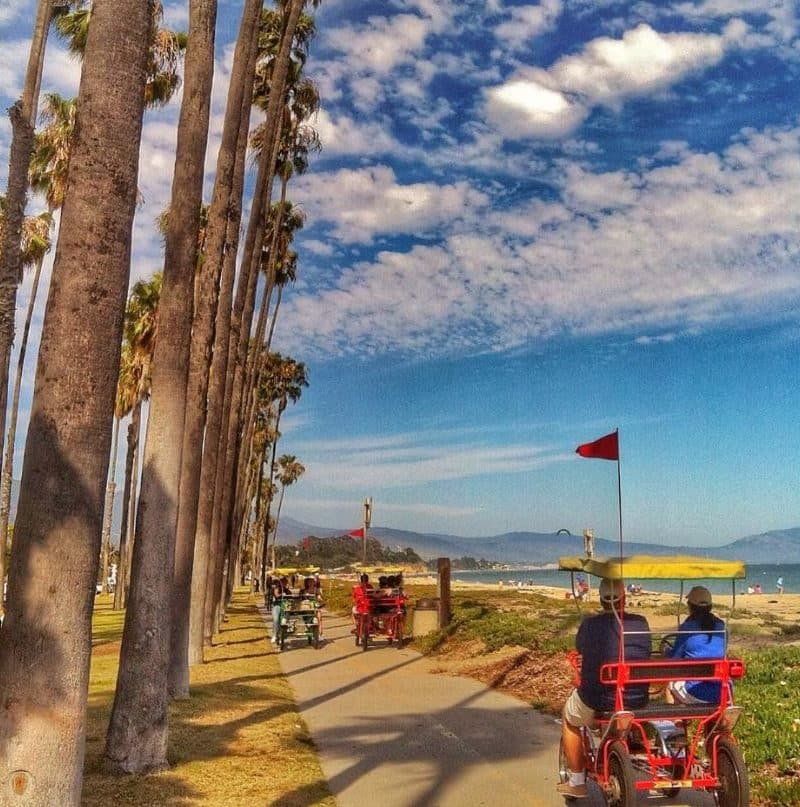 Beach surrey bike rental