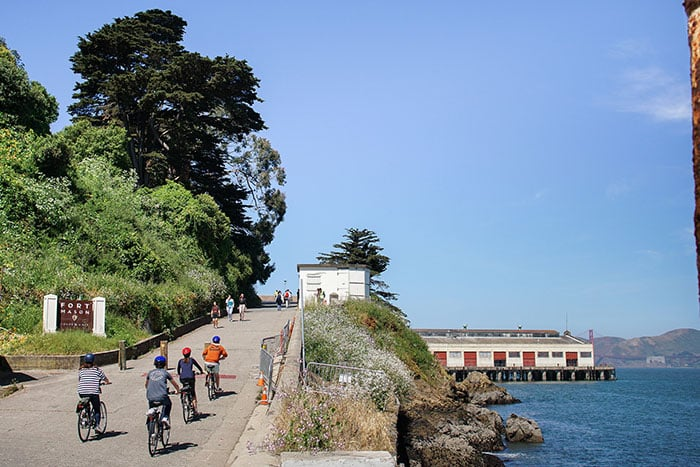 Admire Fort Mason on a bike tour