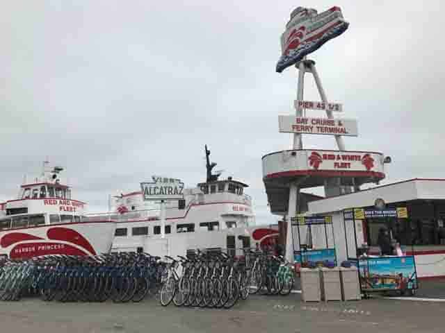 Bike Rentals in Pier 43 Fisherman's Wharf