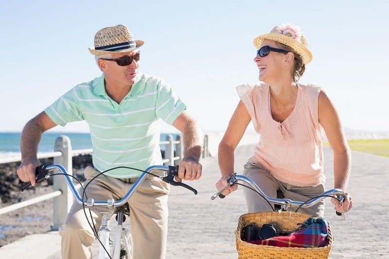 Beach ocean bicycle rental