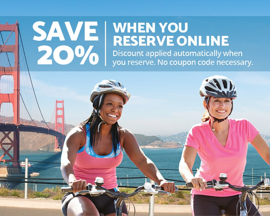 Bike Rentals San Francisco 20% Off
