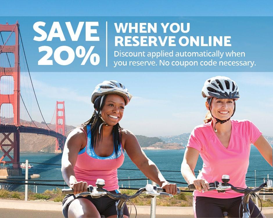 Bike Rentals San Francisco 20% Off