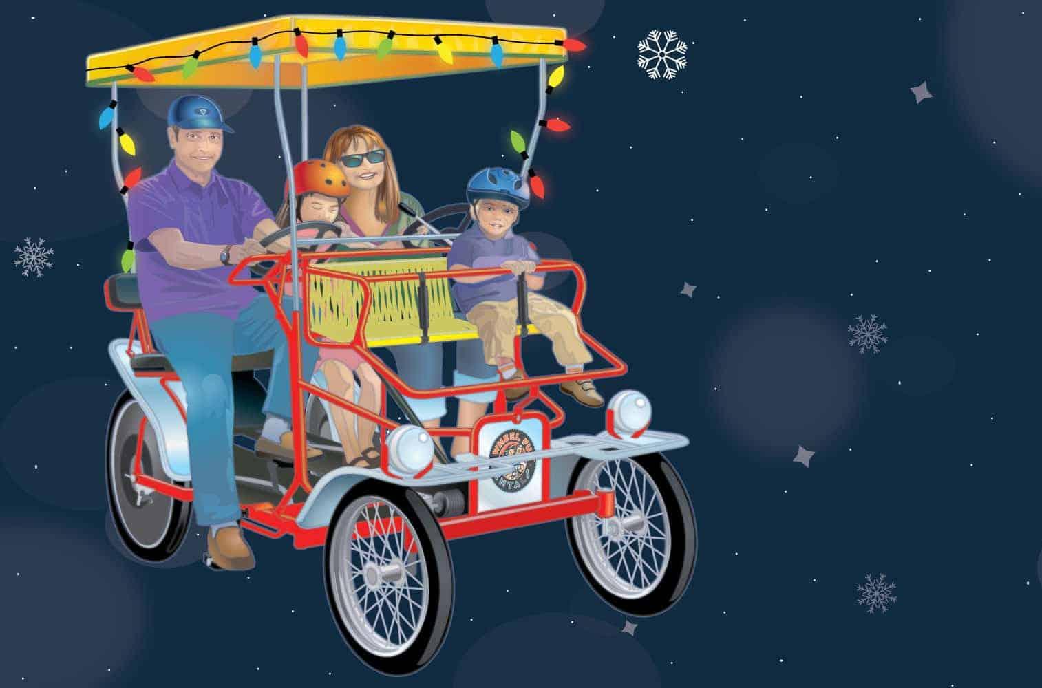 Wheel Fun Rental Surrey Sleigh Rides at Hotel Del Coronado