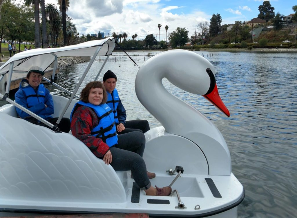 Swan boat rentals from Wheel Fun Rentals in Echo Park