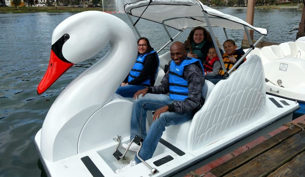 Lake Balboa swan boat rental outing for corporate events