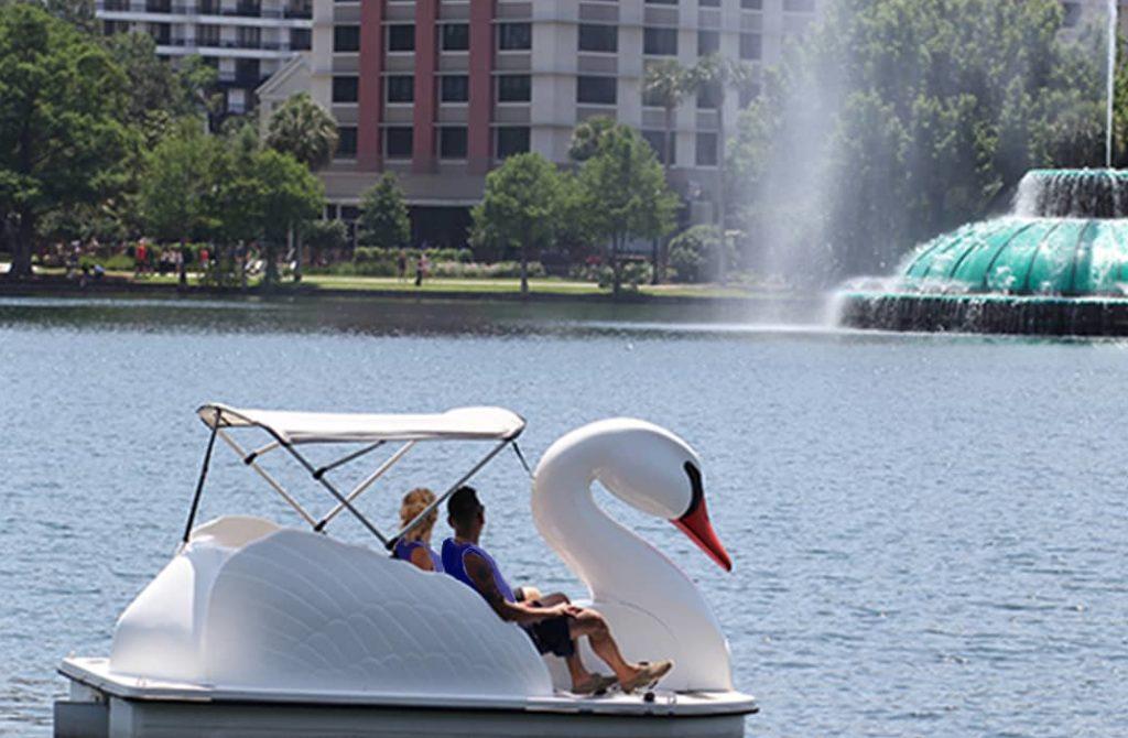Swan boat rentals from Wheel Fun Rentals - Lake Balboa