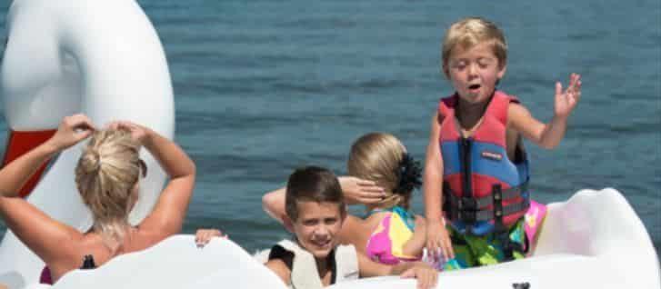 kids birthday party, kids field trip on swan boat rentals