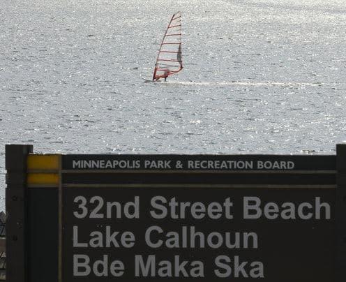 Bde Maka Ska lake boat rentals