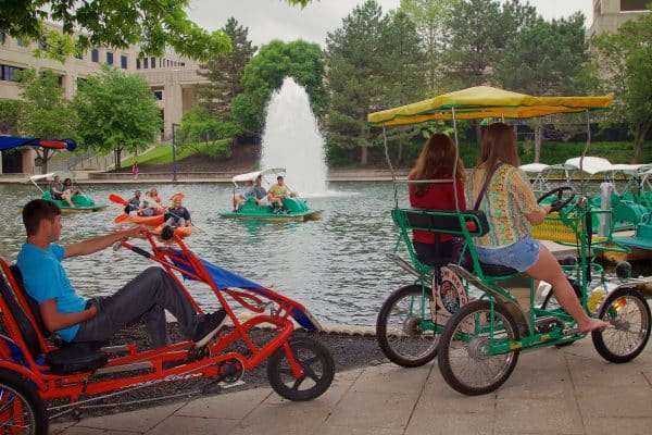 Bike and boat rentals in White River State Park, IN