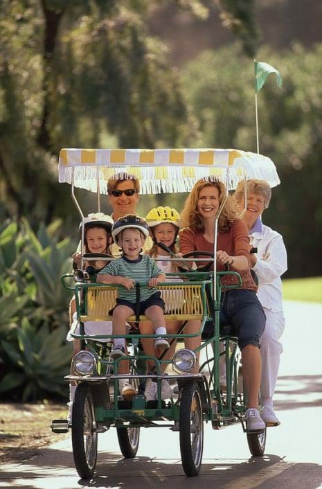 Bike rentals from Wheel Fun Rentals in New Orleans' City Park